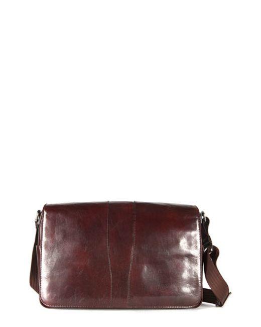 Bosca | Brown Leather Messenger Bag for Men | Lyst