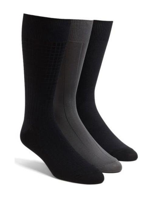 Calvin Klein   Gray 3-pack Microfiber Socks, Grey for Men   Lyst