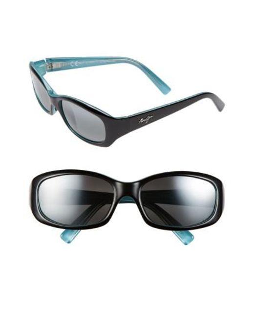 Maui Jim - Black Punchbowl 54mm Polarizedplus2 Rectangular Sunglasses - Lyst