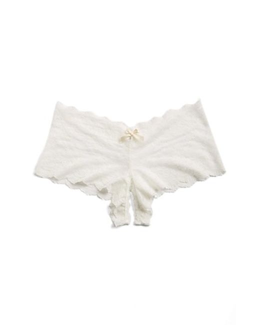 Hanky Panky | White Open Gusset Hipster Panty | Lyst
