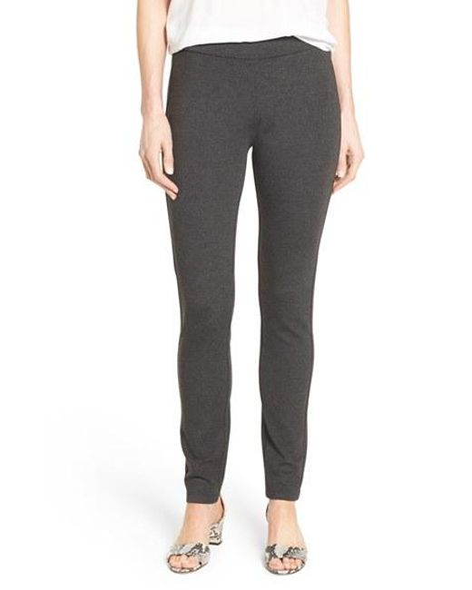 NYDJ | Gray Stretch 'jodie' Ponte Leggings | Lyst