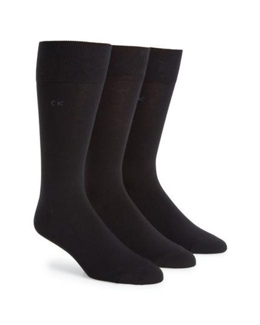 CALVIN KLEIN 205W39NYC - Assorted 3-pack Socks, Black for Men - Lyst