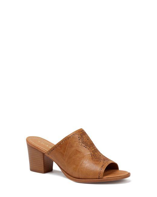 Trask Brown Carlena Perforated Slide Sandal
