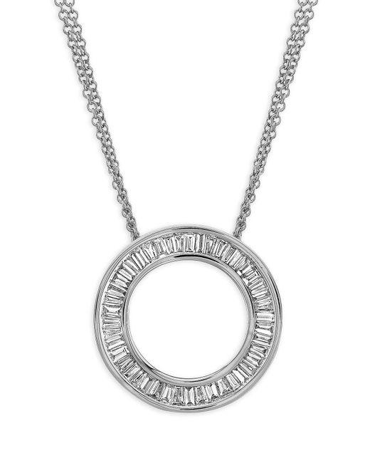 Bony Levy Metallic Circle Of Life Medium Diamond Pendant Necklace (nordstrom Exclusive)