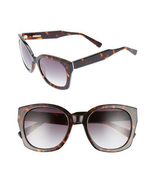 Derek Lam - Brown Sadie 54mm Sunglasses - Havana Tortoise - Lyst