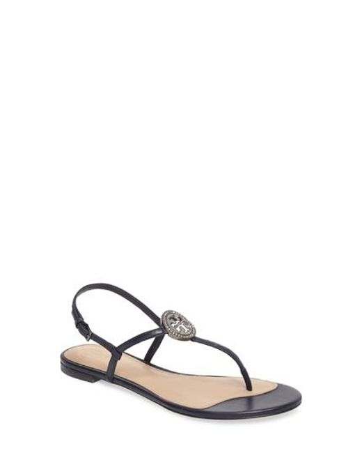 LIANA FLAT SANDAL 248 Black Royal Navy discount great deals clearance high quality clearance outlet store cheap sale new arrival for nice cheap price l9Fl7rnC