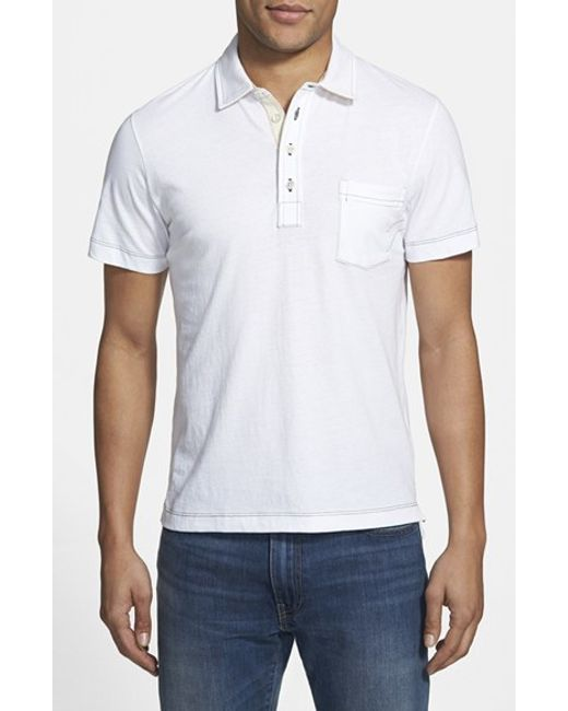 Billy Reid | White 'pensacola' Trim Fit Polo for Men | Lyst