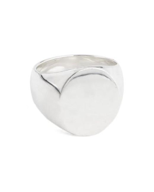 Tom Wood | Metallic 'patriot Collection' Oval Signet Ring | Lyst