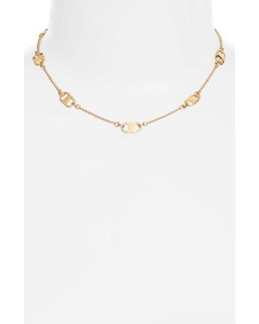 Tory Burch | Metallic Gemini Link Station Necklace | Lyst