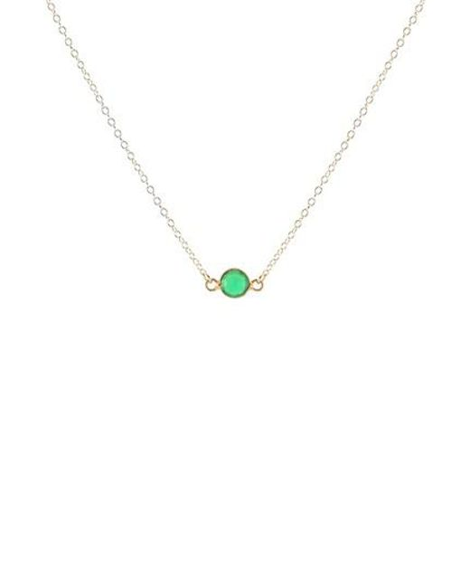 Kris Nations - Metallic Birthstone Necklace - Lyst