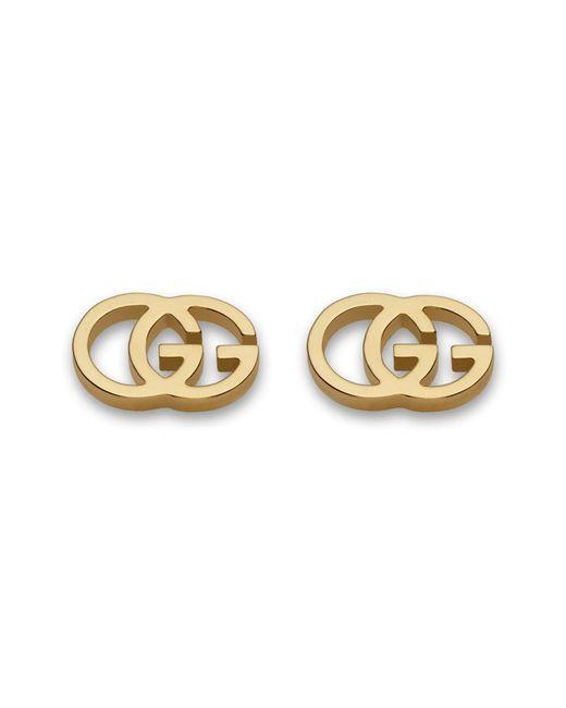 Gucci - Metallic Double-g Stud Earrings - Lyst