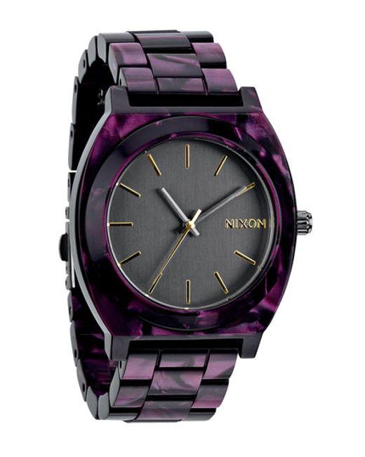 Nixon | Purple 'the Time Teller' Watch | Lyst