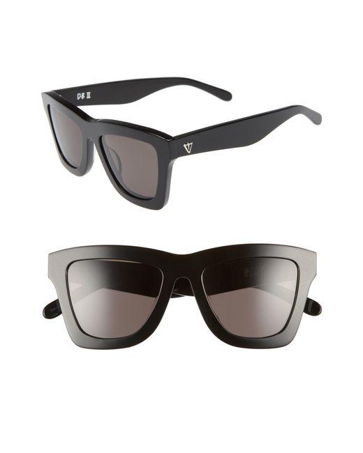 Valley Eyewear - Db Ii 50mm Retro Sunglasses - Gloss Black - Lyst