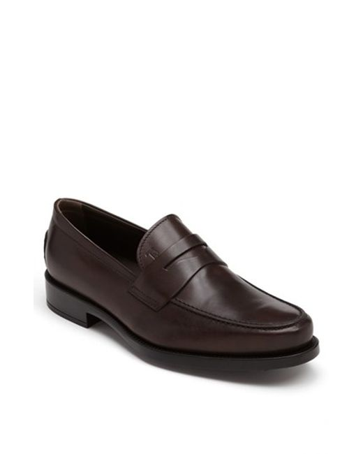 Tod's | Brown 'boston' Penny Loafer for Men | Lyst