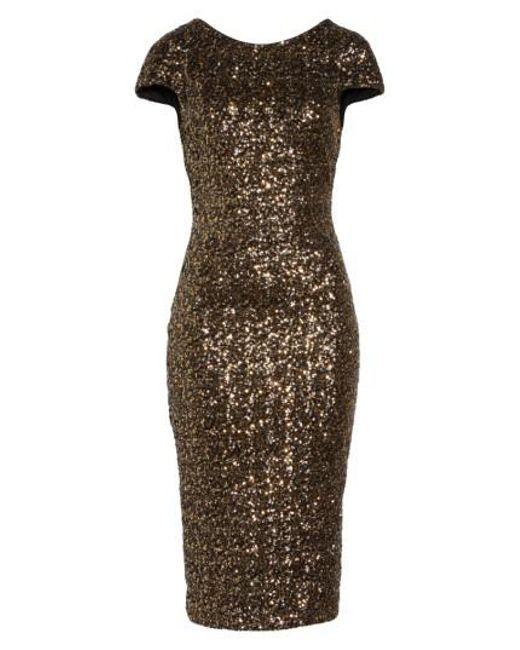 Dress the Population | Metallic 'marcella' Open Back Sequin Body-con Dress | Lyst