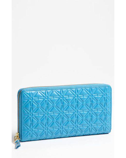 Comme des Garçons | Blue Continental Long Wallet | Lyst