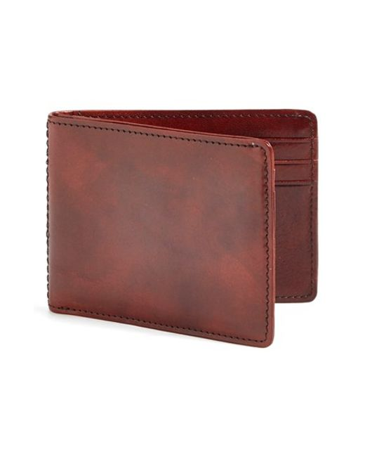 Bosca | Brown Small Bifold Wallet for Men | Lyst