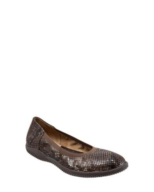 Softwalk® - Brown Softwalk 'hampshire' Dot Perforated Ballet Flat - Lyst