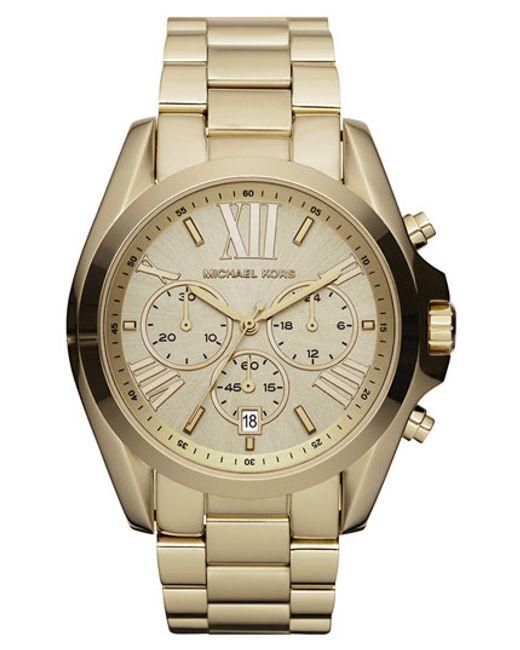 Michael Kors | Metallic 'bradshaw' Chronograph Bracelet Watch | Lyst