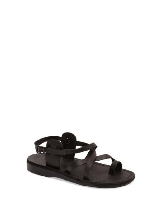 Jerusalem Sandals | Black The Good Shepard Leather Sandals  | Lyst