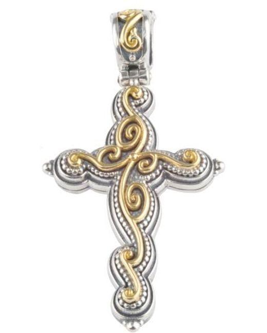 Konstantino | Metallic Gaia Cross Pendant | Lyst