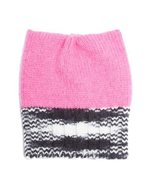 Missoni   Pink Knit Alpaca Blend Hat   Lyst