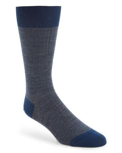 Pantherella | Blue '5911' Mid-calf Dress Socks for Men | Lyst