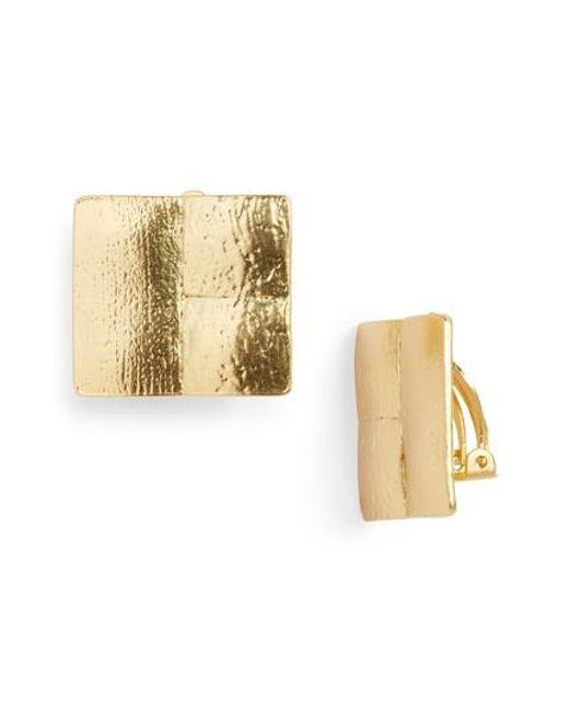 Karine Sultan - Metallic Baroque Clip Stud Earrings - Lyst