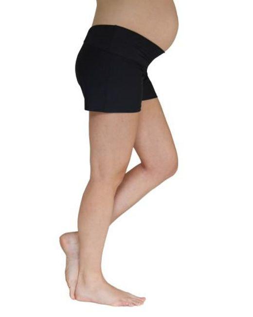 Mermaid Maternity - Black Foldover Maternity Swim Shorts - Lyst