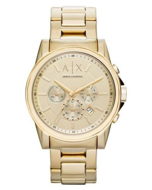 Armani Exchange | Metallic Chronograph Bracelet Watch for Men | Lyst