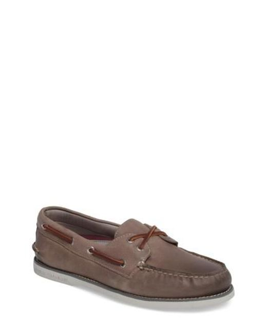 Sperry Top-Sider | Gray 'gold Cup - Authentic Original' Boat Shoe for Men | Lyst