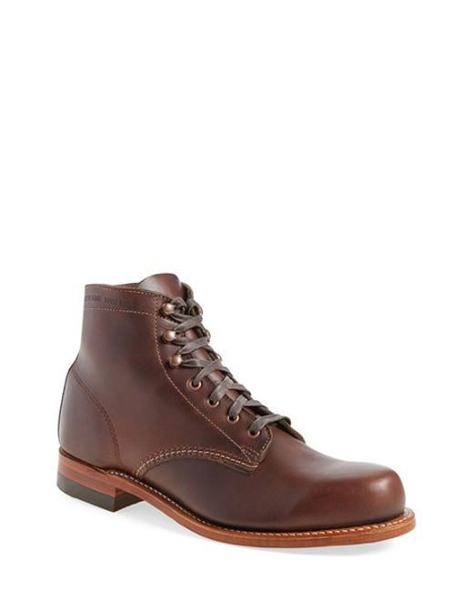 Wolverine | Brown '1000 Mile' Plain Toe Boot for Men | Lyst