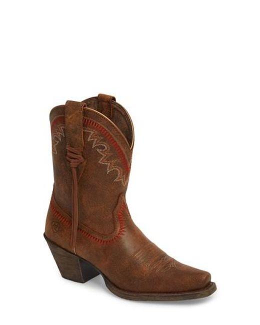 Ariat - Brown Round Up Western Boot - Lyst