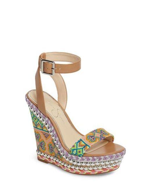 Jessica Simpson Alinda Woven Platform Wedge Sandals Women's Shoes FBxbW