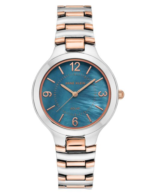 Anne Klein Metallic Considered Solar Power Bracelet Watch for men
