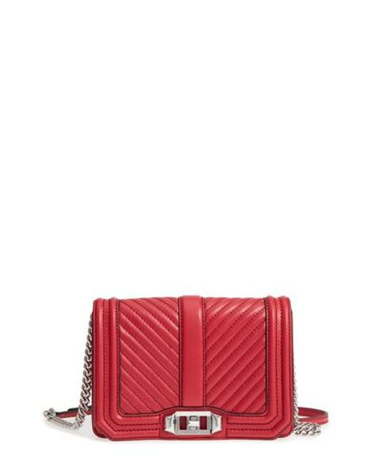 Rebecca Minkoff - Red Small Love Leather Crossbody Bag - Lyst
