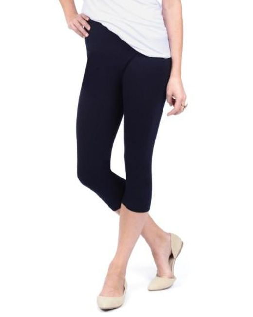 Lyssé | Blue Control Top Capri Leggings | Lyst