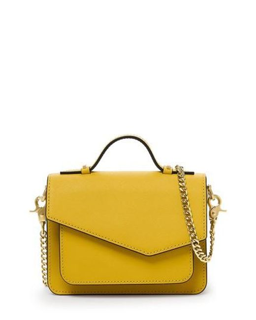 Botkier | Yellow Mini Cobble Hill Calfskin Leather Crossbody Bag | Lyst