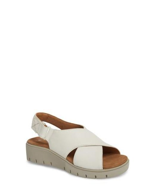 Clarks - White Clarks Unstructured By Clarks Karely Sandal - Lyst