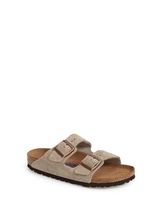 Birkenstock | Natural 'arizona' Soft Footbed Suede Sandal | Lyst