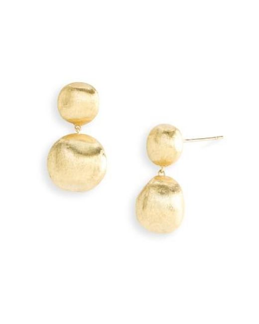 Marco Bicego | Metallic 'africa Gold' Double Drop Earrings | Lyst