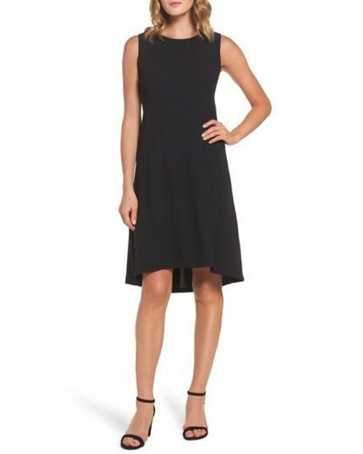 Maggy London | Black Drop Waist Shift Dress | Lyst