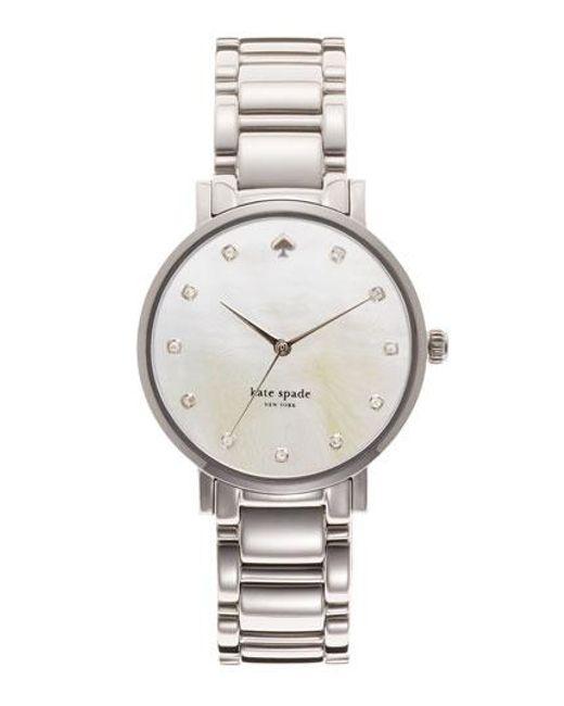 Kate Spade   Metallic 'gramercy' Crystal Marker Watch   Lyst