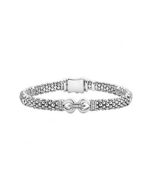 Lagos - Metallic 'derby' Diamond Buckle Rope Bracelet - Lyst