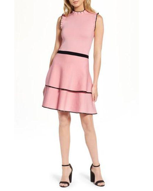 Parker | Pink Ryker Fit & Flare Dress | Lyst