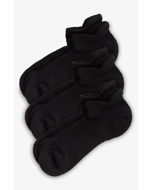 Zella - 3-pack Tab Back Socks, Black - Lyst