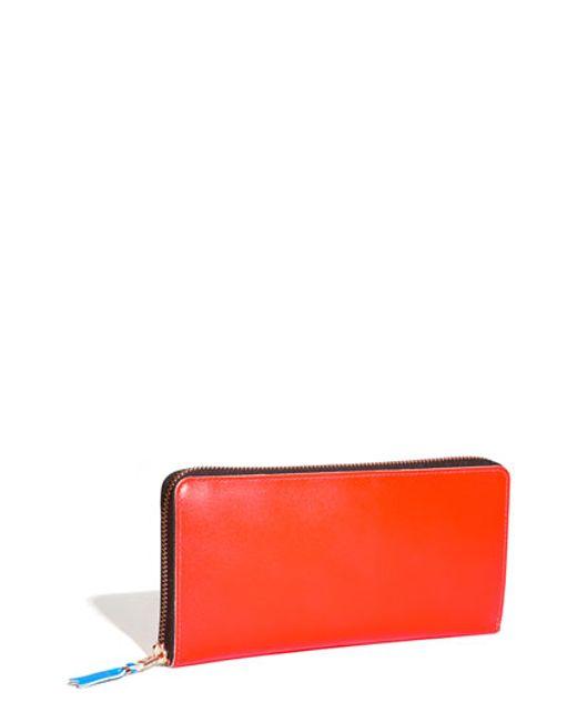 Comme des Garçons | Orange 'super Fluo' Continental Long Wallet | Lyst