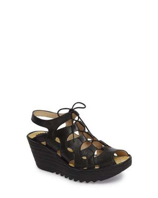 Fly London - Black Yexa Sandal - Lyst
