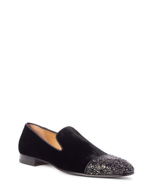 Christian Louboutin Black Dandelion Strass Venetian Loafer for men