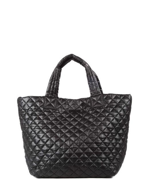 MZ Wallace | Black 'small Metro' Quilted Oxford Nylon Tote | Lyst